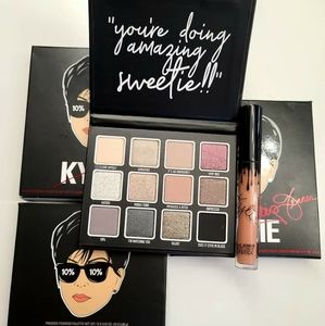 Kris Jenner Eyeshadow palette and lipstick
